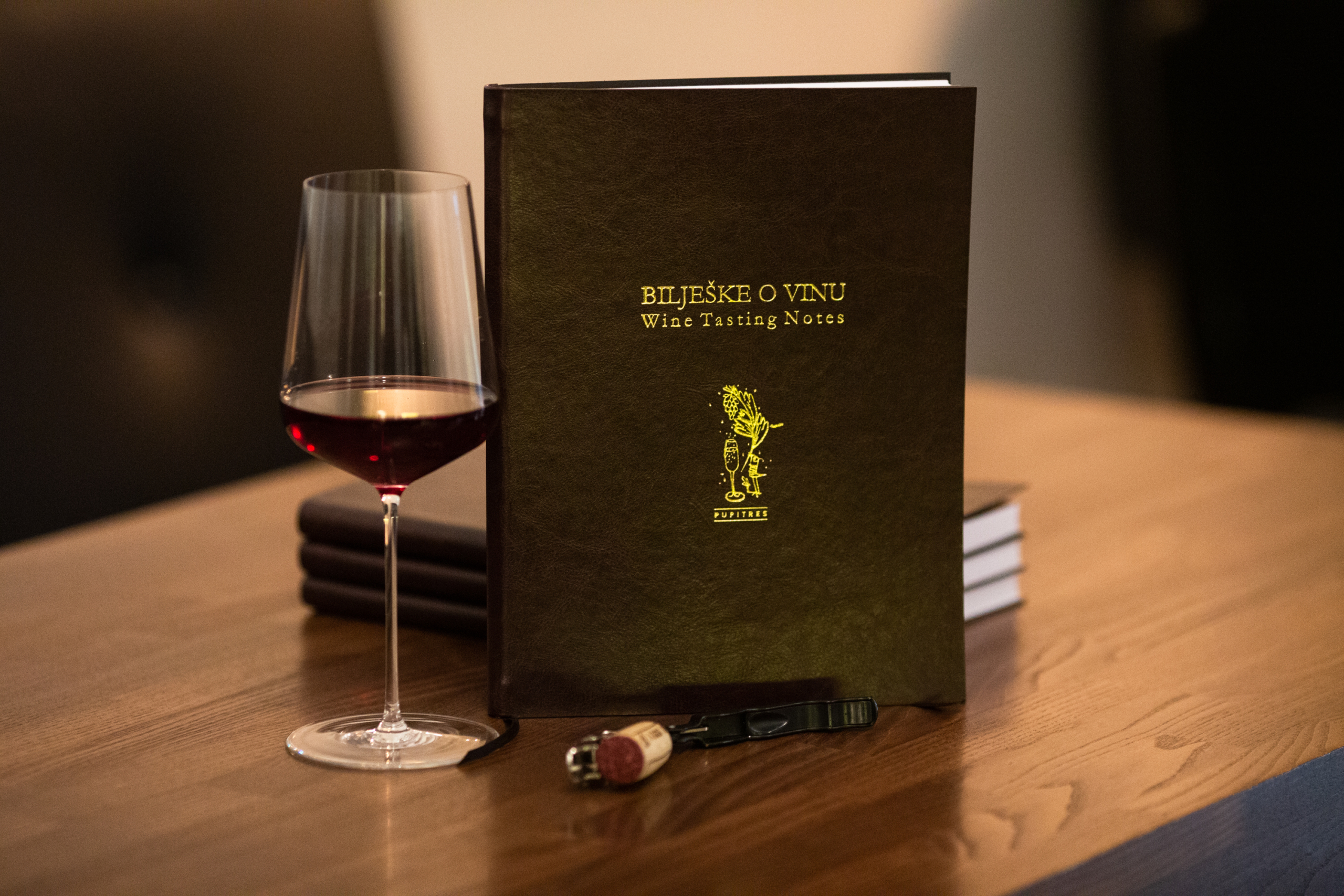 bilješke o vinu pupitres